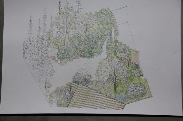 庭の俯瞰図1