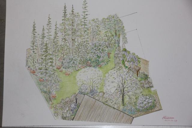庭の俯瞰図2